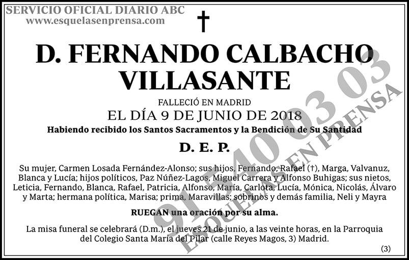 Fernando Calbacho Villasante